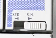 Rollsaumspannung per Schalter einstellbar